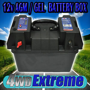 BATTERY-SYSTEM-BOX-12V-12-VOLT-SUIT-AGM-DEEP-CYCLE-DUAL-BATTERIES-CARAVAN-4x4