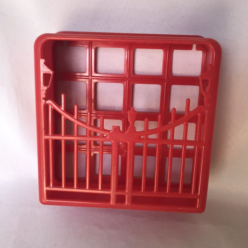 Vintage Red Fence Napkin Wall Holder From Mutual Plastic Mold Co MCM Kitchen