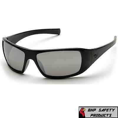 Pyramex Goliath Safety Glasses Sb5670d Silver Mirror Lens Work Sunglasses Z87