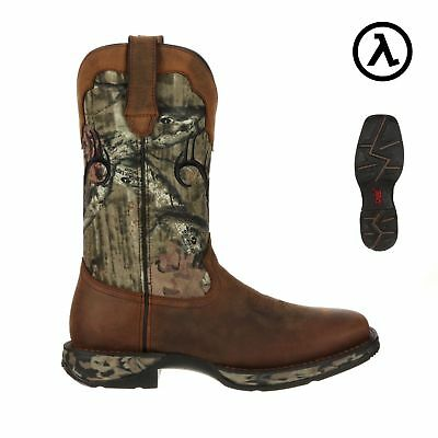 Rebel By Durango Wtrpf Camo Deer Skull Western Boots Ddb0058   All Sizes   New