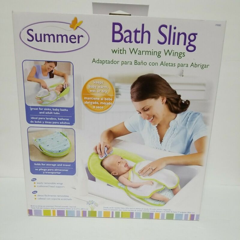 Summer Infant Compact Folding Baby Bath Seat, Sling Style - Great for Travel!