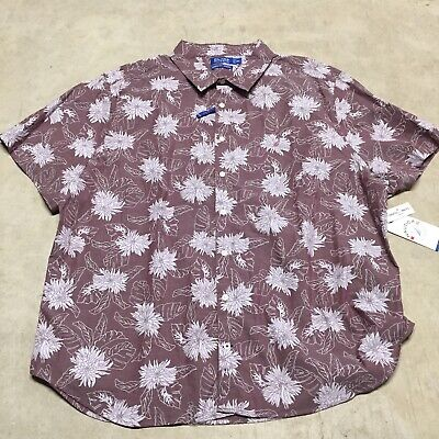 mens nautica blue sail classic fit floral hawaiian short sleeve shirt 04-20