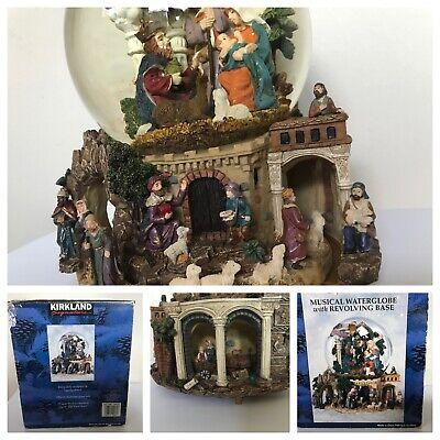 Vintage Kirkland Signature Snow Globe Nativity Scene Musical