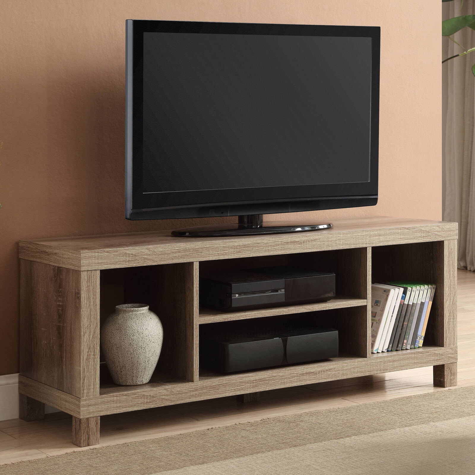 42 inch tv stand entertainment center home theater media for Tv console with storage