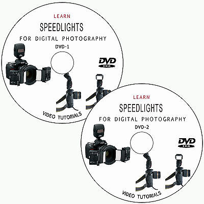 LEARN SPEEDLIGHTS FOR DIGITAL PHOTOGRAPHY CAMERA TRAINING TUTORIALS ON 2 DVDs