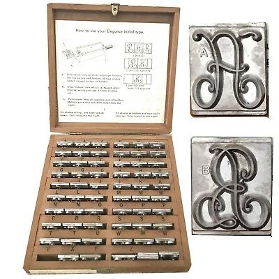 Kingsley Stamping Machine Type Elegance Initials Complete One Third Size