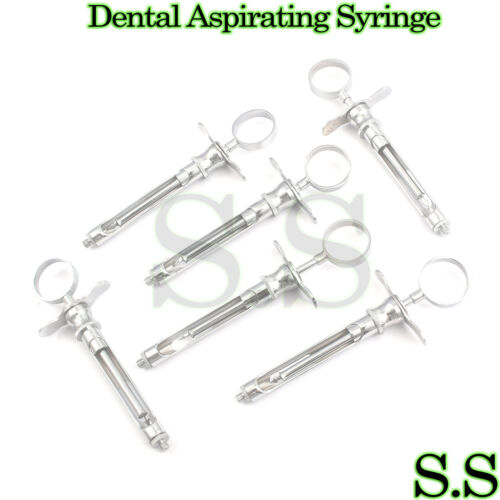 6 Dental Aspirating Syringe Dental Instruments 1.8cc