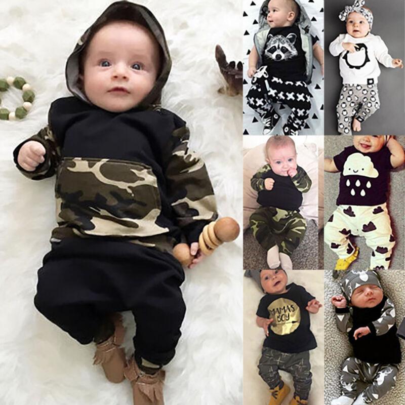 Kleinkind Baby Jungen Kinder Sommer Outfit Kleidung T Shirt Top Lang Hose 0-24M