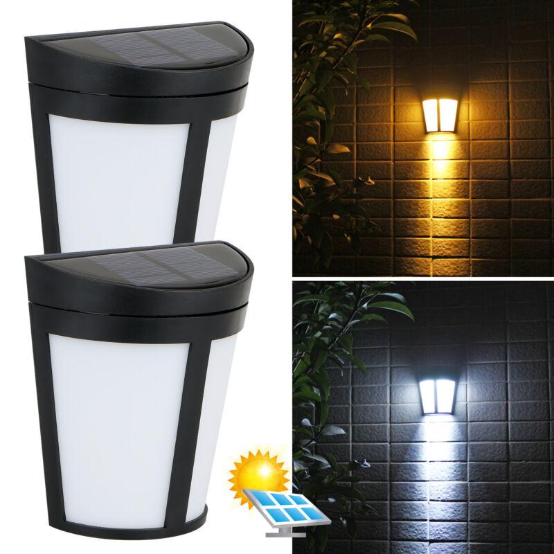 Solar Power 6 LED Wall Mount Light Outdoor Garden Path Way Fence Yard Patio Lamp