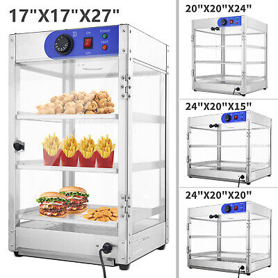 5 Size Commercial 2 3-tier Counter Top Food Pizza Warmer Display Cabinet Case