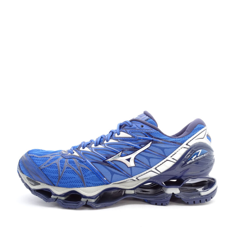2aab9548f5bb Mizuno Wave Prophecy 7 [J1GC180004] Men Running Shoes Blue/Silver-Navy
