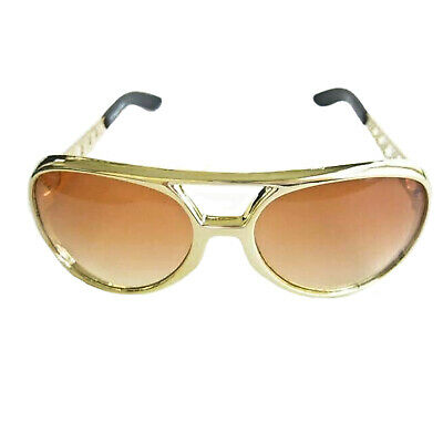 Adult Rock And Roll Rockstar Gold Glasses Halloween Costume Accessory - Halloween Costumes Rock And Roll