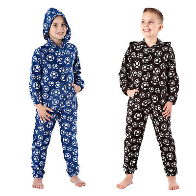 Boys Super Soft Luxury Football Print All In One Sleep Suit Final Clearance Sale (Boys Suits Clearance)