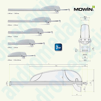 AIRWIN 450N 230V STROKE=550MM Rack for Shed Top-Hung Windows Skylights Domes