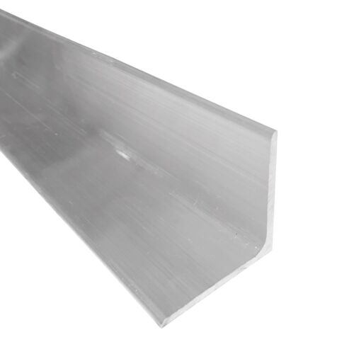 """2"""" x 2"""" Aluminum Angle 6061, 4"""" Length, T6511 Mill Stock, 1/8"""" Thick"""