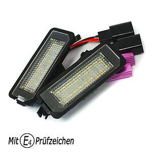 LED-Kennzeichenbeleuchtung-TUV-Frei-fuer-SEAT-Leon-Ibiza-Exeo-Altea-SKODA-Superb