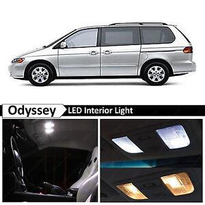 White LED Light Interior Package Kit Fits 1999-2004 Honda Odyssey