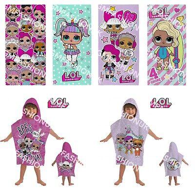 L.O.L Surprise 'Unicorn' LOL Swimming Summer Beach Bath Towel Or Hooded Poncho (O R Handtücher)