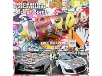 "*60/""x72/"" Sticker Bomb Vinyl Wrap Decal Film Graffiti Cartoon JDM Anime DIY #IL"