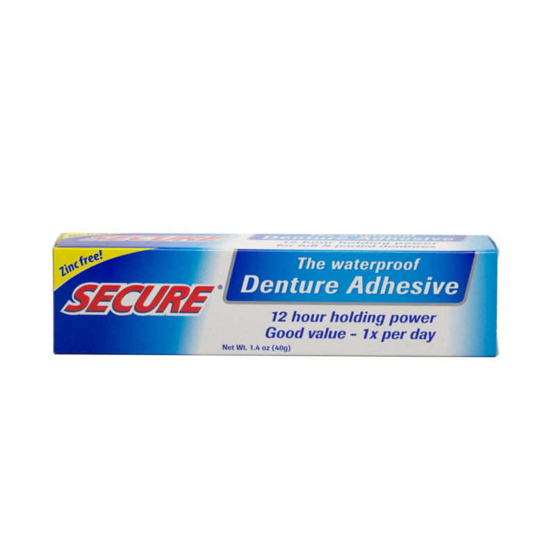 Secure Denture Adhesive Waterproof 1.4 oz FREE Shipping Made in USA FRESH