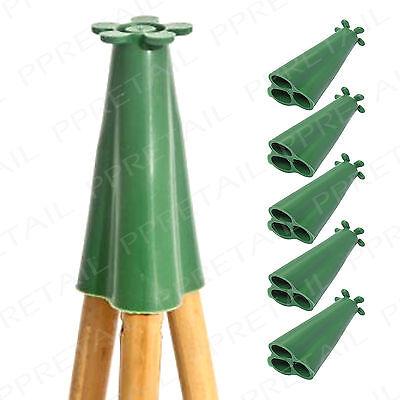 5 x PYRAMID CONE GARDEN CANE CAPS THICK RUBBER Bamboo Stick Eye Protector Topper