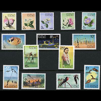NAURU 1973 Set of 14 Values. SG 99-112.  Lightly Hinged Mint. (AB791)
