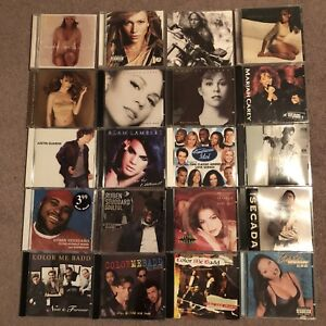 20 Assorted CDs Mariah Carey, Jennifer Lopez, American idol, ...