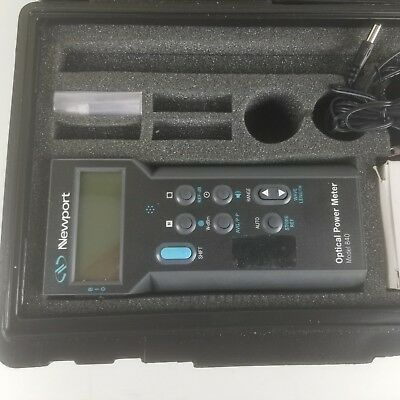 Handheld Optical Power Meter Newport 840-c Wcase And Manual