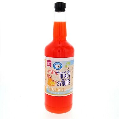 Hawaiian Shaved Ice Or Snow Cone Syrup Ready To Use Dreamcicle 32 Fl. Oz