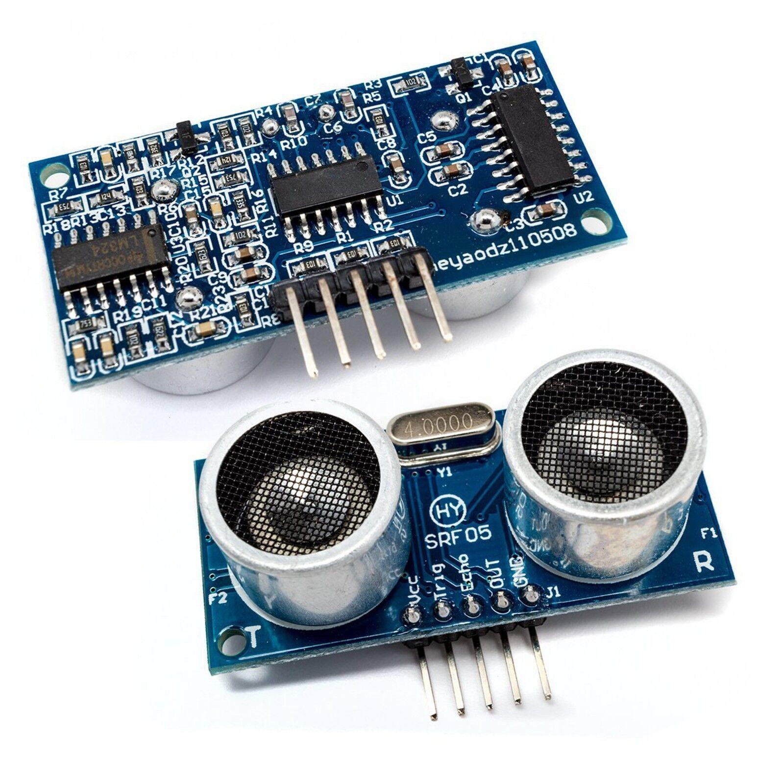 2 Pcs HY-SRF05 / HC-SR05 Precise Ultrasonic Range Sensor Module for