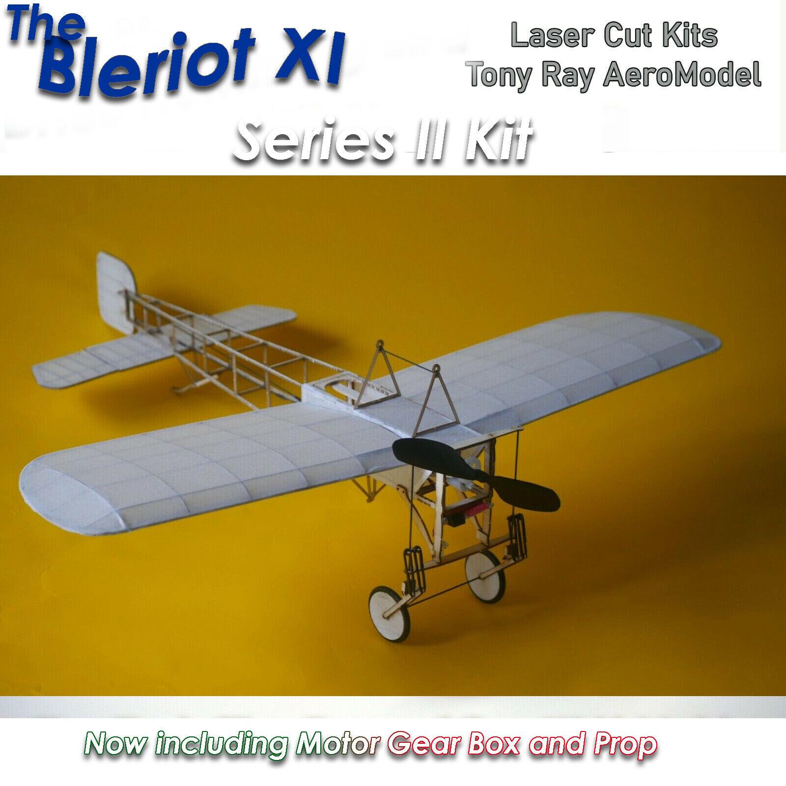 Tony Ray's Laser Cut Balsa Bleriot XI Radio Control Kit w/ Motor,Gearbox,Prop DL