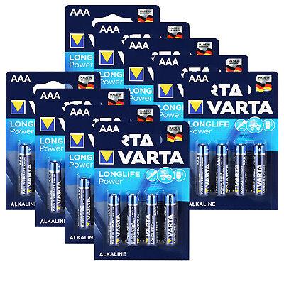 VARTA AAA Micro LR03 Alkali Batterie 1,5V Longlife Power 36 Stück