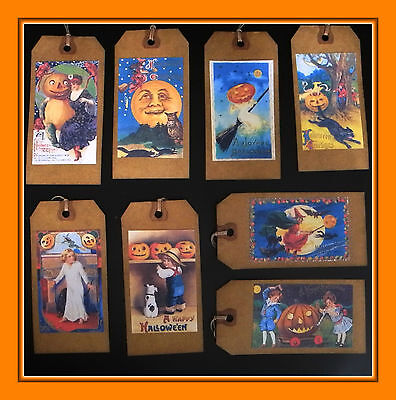 Old Fashioned Halloween (OLD FASHIONED HALLOWEEN HANG TAGS MADE FROM VINTAGE)