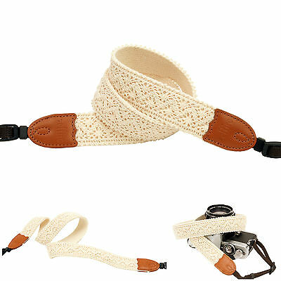 Ivory lace style Fashion Camera Neck Shoulder Strap for Film SLR DSLR RF Digital