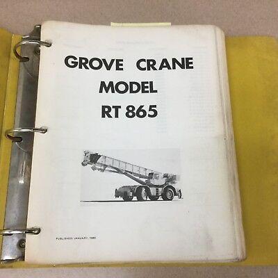 Grove Rt865 Crane Service Shop Repair Manual Rough Terrain Hydraulic Maintenance