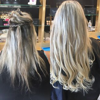 Hair extension service weft braid weft method hairdressing european sew in weft hair extensions 330 full head special surfers paradise pmusecretfo Gallery