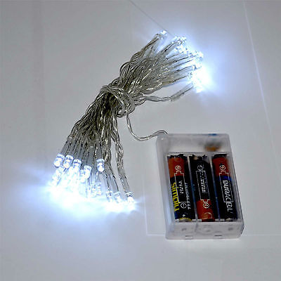 20 40 80 LED String Fairy Light Batterie tragbar betrieben Xmas Wedding & Party