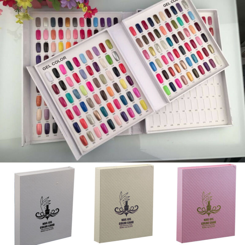 120 Nail Tip Colour Chart Display Book For UV/LED Gel Polish With ...