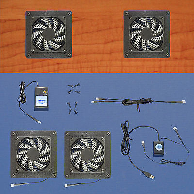 Mega-fan 2-Zone USB-controlled AV & Computer cabinet cooling fans / multi-speed, used for sale  Shipping to India