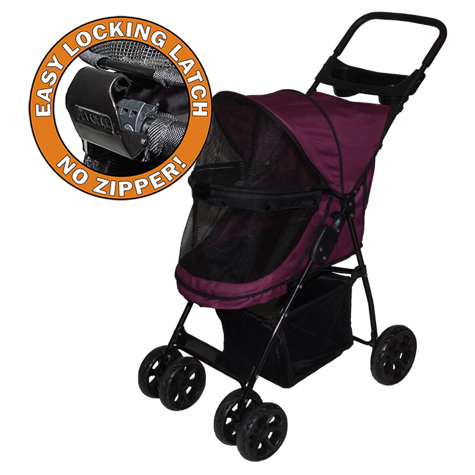 Pet Gear Cat Dog No-zip Stroller Pg8030nz 4 Wheel Zipperl...