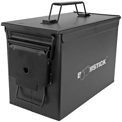 .50 Cal Ammo Can Military Quality Ammunition Bullet Storage Box Brand New Black Gun Storage