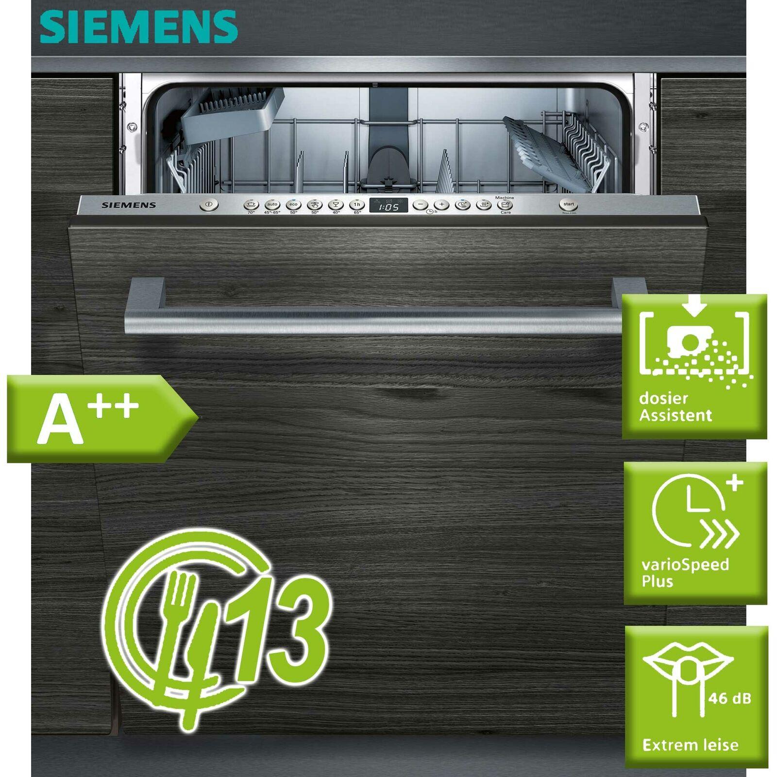 Siemens Geschirrspüler Spülmaschine vollintegriert EEK A++ Spüler 60cm Aquastop