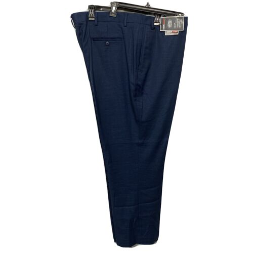Roundtree & Yorke Travel Smart Classic Fit Flat Front Pants 48×29 Blue Clothing, Shoes & Accessories