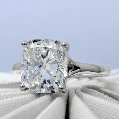 Natural 2.70Ct Cushion Cut Solitaire Diamond  Engagement Ring H VS2 Platinum GIA 2