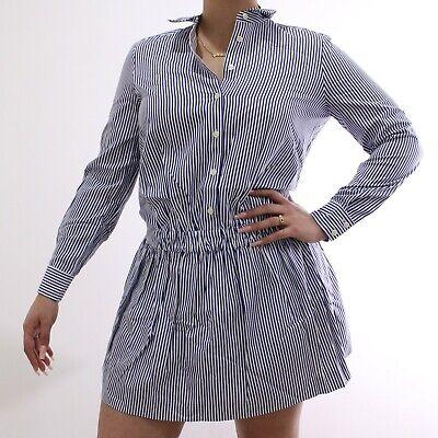 Kate Spade Women's Stripe White, Blue Shirt Dress in Full Bloom | Size 8 | NWT