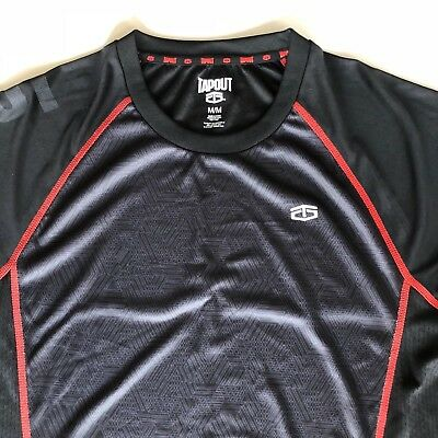 ef223e15e7fd TAPOUT Men's Medium Short Sleeve Athletic Top Color Black and Red