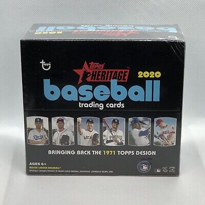 2020 Topps Heritage Retail Box Baseball - 1 Sealed Box - 24 Packs - 9 Cards Per