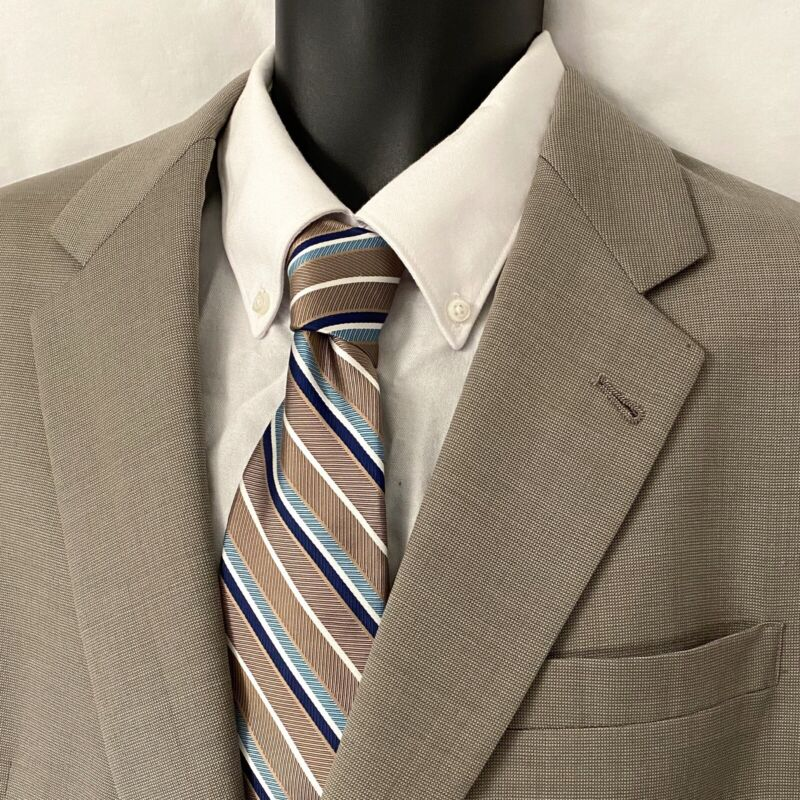 44L Mens HART SCHAFFNER MARX Sport Coat Blazer Suit Jacket Gray Blend Wool