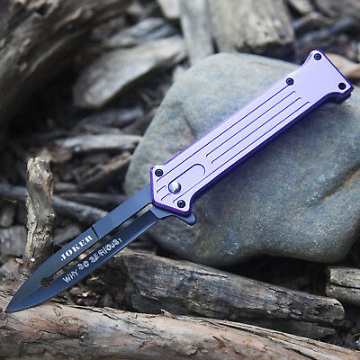 Купить Tac-Force - 7.5 JOKER SPRING ASSISTED STILETTO TACTICAL FOLDING POCKET KNIFE Blade Purple
