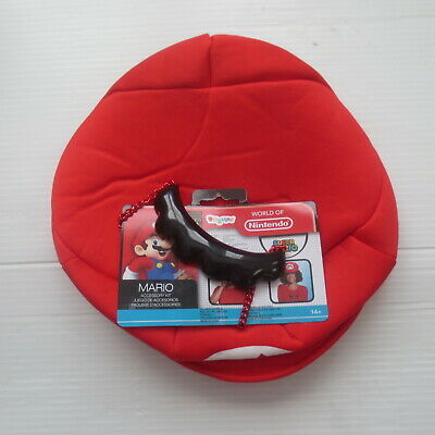 Super Mario Hat And Moustache (Super Mario Hat and Moustache Accessory Kit -)